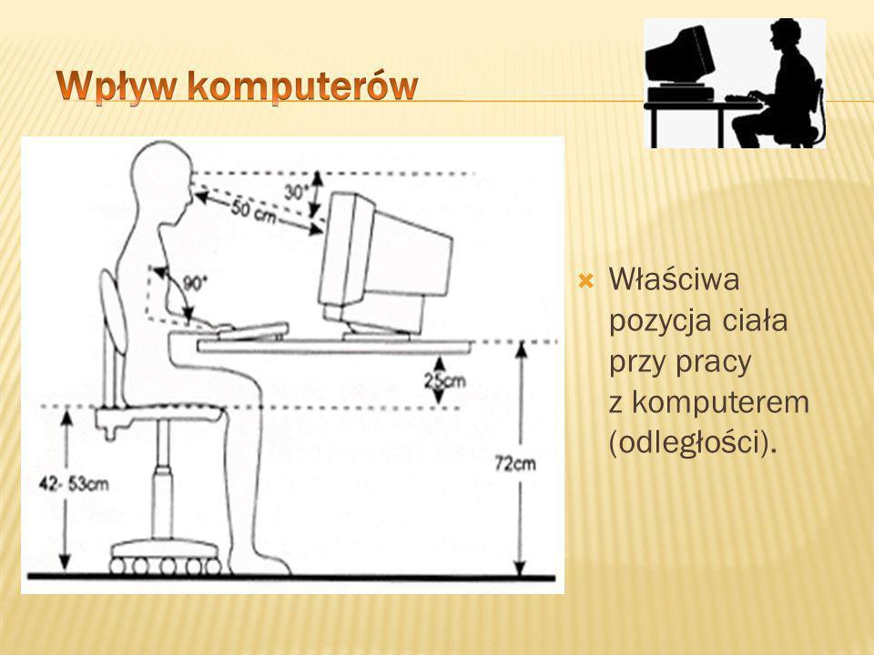  Właściwa pozycja ciała przy pracy z komputerem.