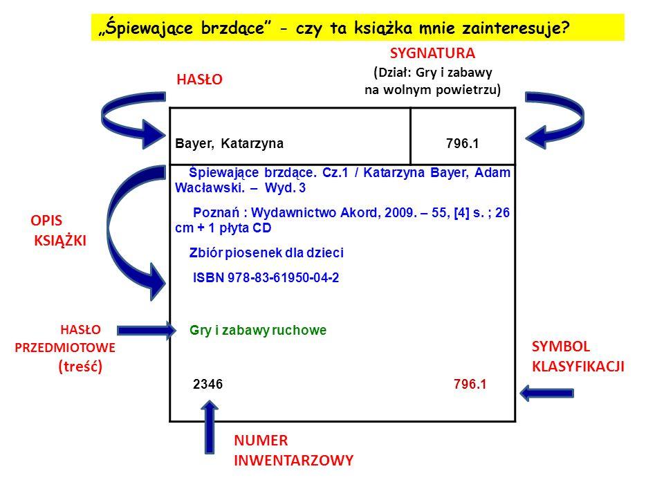 Bayer, Katarzyna796.1 Śpiewające brzdące. Cz.1 / Katarzyna Bayer, Adam Wacławski. – Wyd. 3 Poznań : Wydawnictwo Akord, 2009. – 55, [4] s. ; 26 cm + 1
