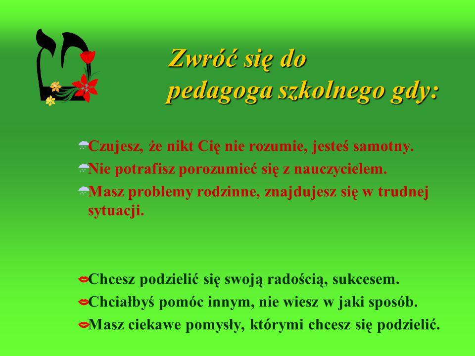 Placówki specjalistyczne świadczące pomoc Szkole, Rodzinie i Uczniowi Poradnia Psychologiczno-Pedagogiczna Tarnów ul. Nadbrzeżna Dolna 7 tel. 14 655 9