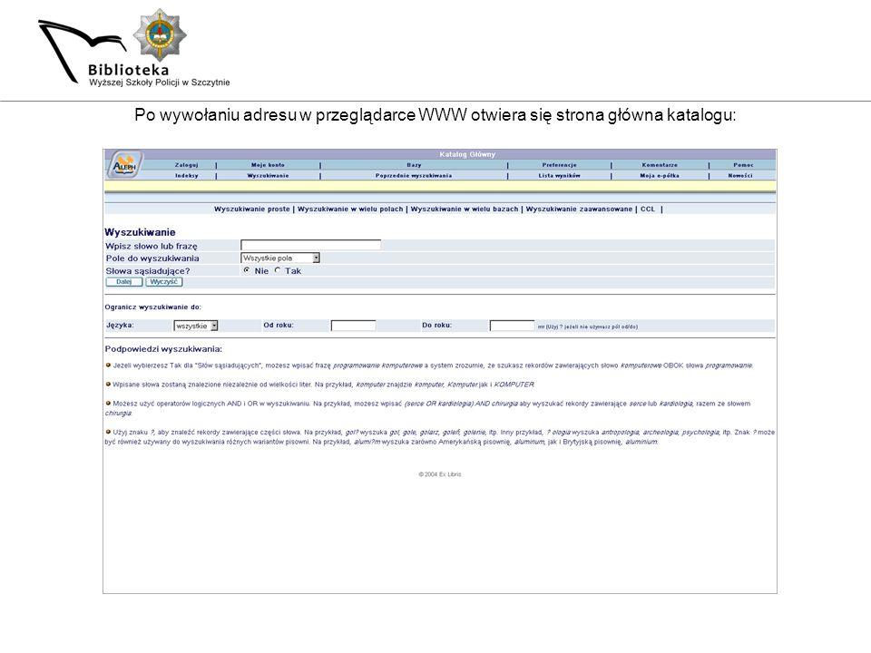 Zaprezentowaliśmy Państwu podstawowe funkcje katalogu bibliotecznego Biblioteki WSPol.