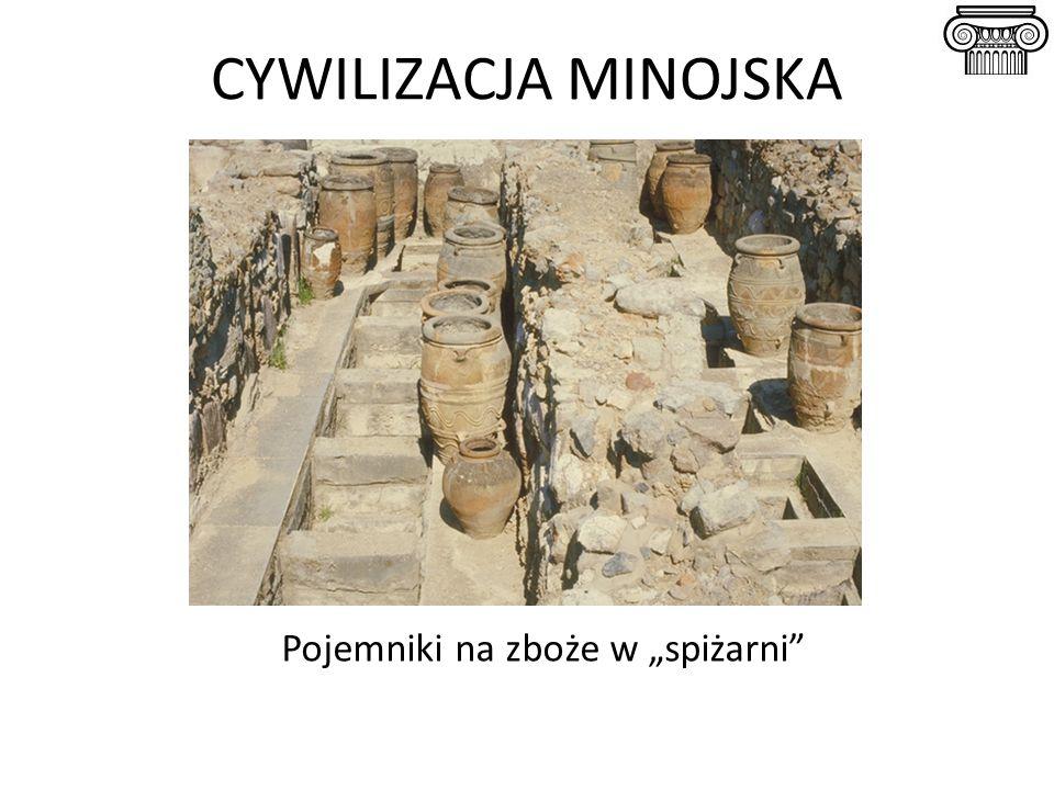 """CYWILIZACJA MINOJSKA Pojemniki na zboże w """"spiżarni"""