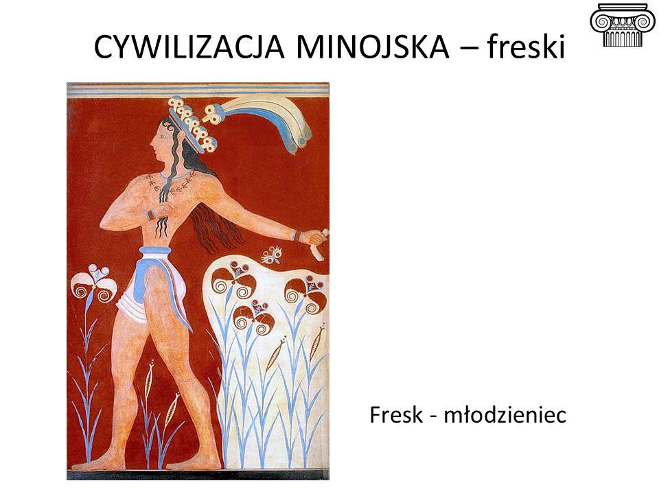 CYWILIZACJA MINOJSKA – freski Fresk - młodzieniec
