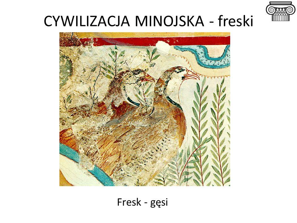 CYWILIZACJA MINOJSKA - freski Fresk - gęsi