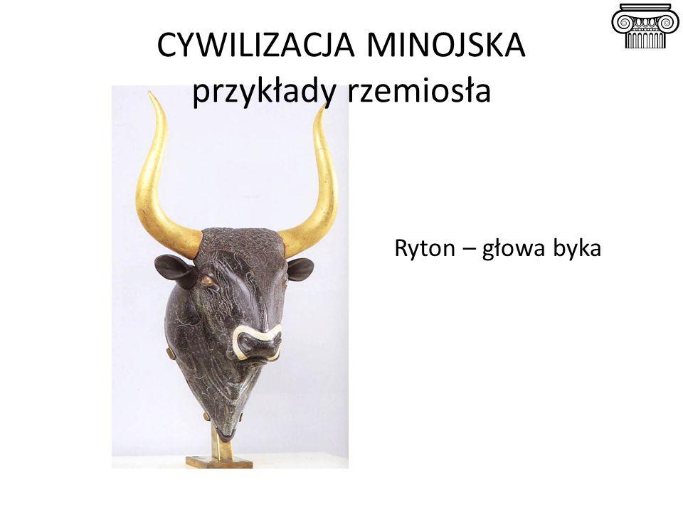 Ryton – głowa byka CYWILIZACJA MINOJSKA przykłady rzemiosła
