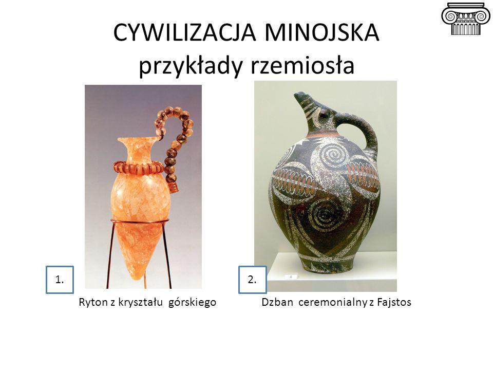 Ryton z kryształu górskiego Dzban ceremonialny z Fajstos 1.2.