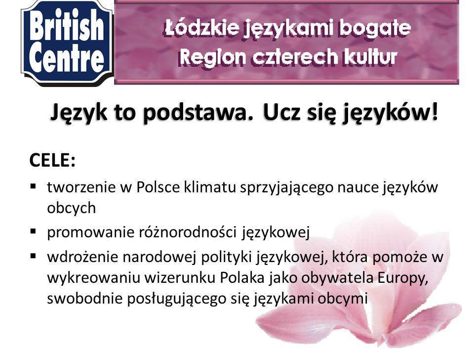 Ile znasz języków, tyle razy jesteś człowiekiem Johann Wolfgang von Goethe Dziękuję za uwagę Bożena Ziemniewicz bc1@british-centre.pl