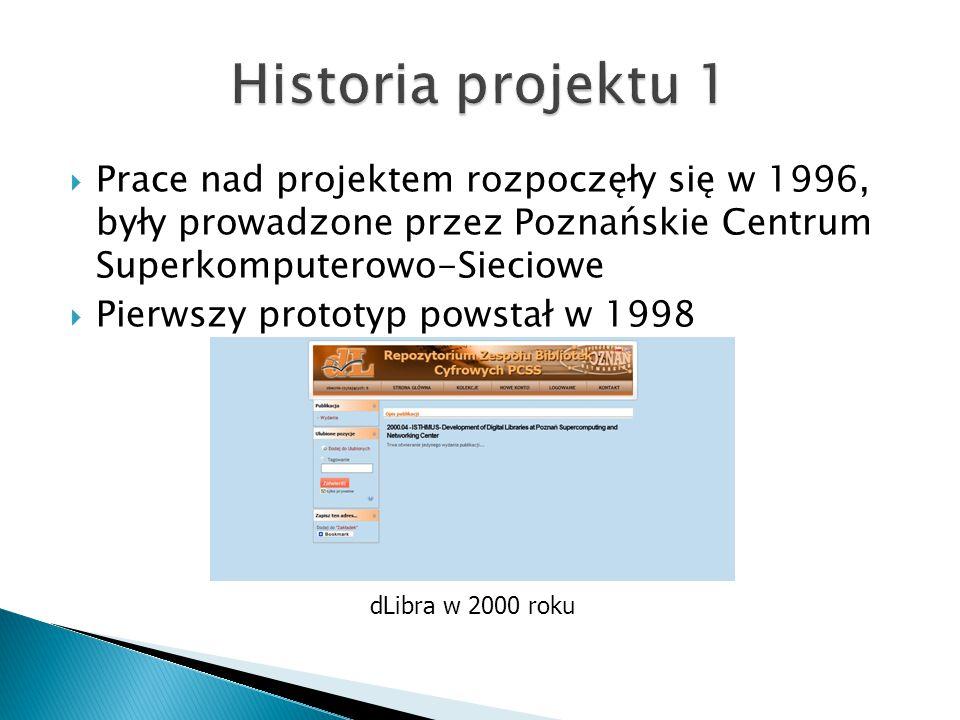  Prace nad projektem rozpoczęły się w 1996, były prowadzone przez Poznańskie Centrum Superkomputerowo-Sieciowe  Pierwszy prototyp powstał w 1998 dLi