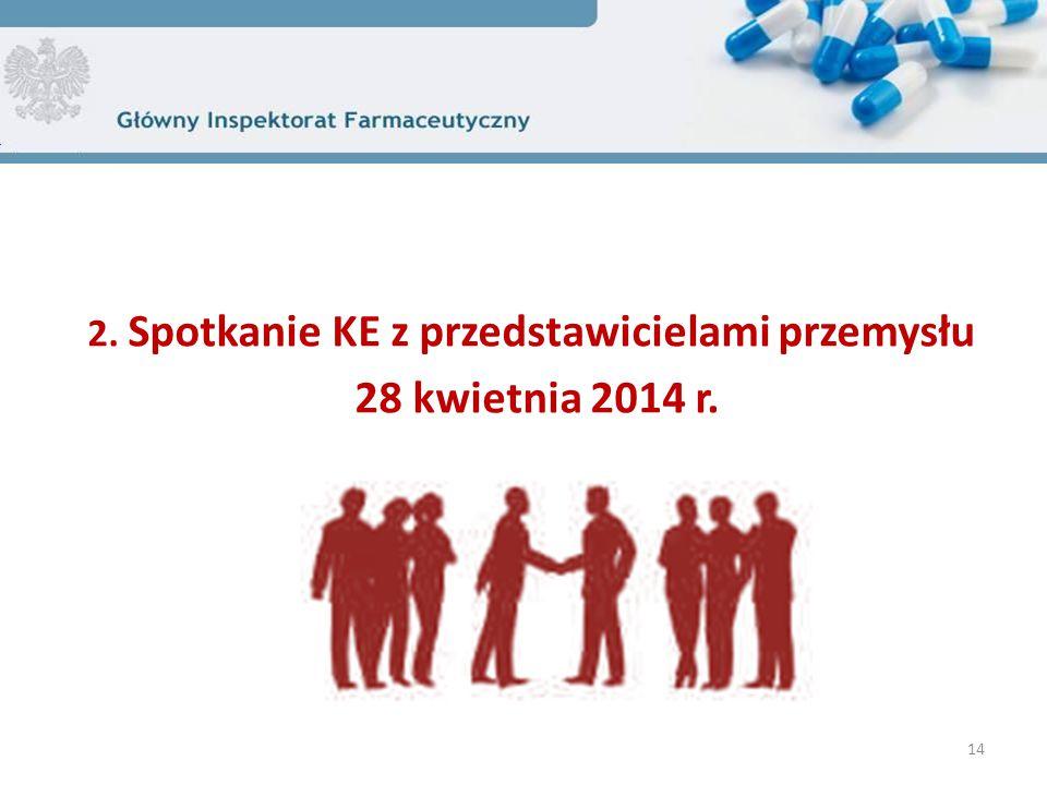 2. Spotkanie KE z przedstawicielami przemysłu 28 kwietnia 2014 r. 14