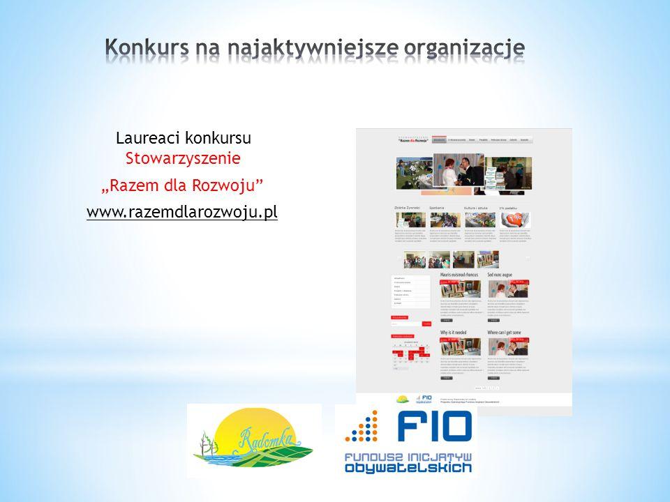 """Laureaci konkursu Stowarzyszenie """"Razem dla Rozwoju"""" www.razemdlarozwoju.pl"""