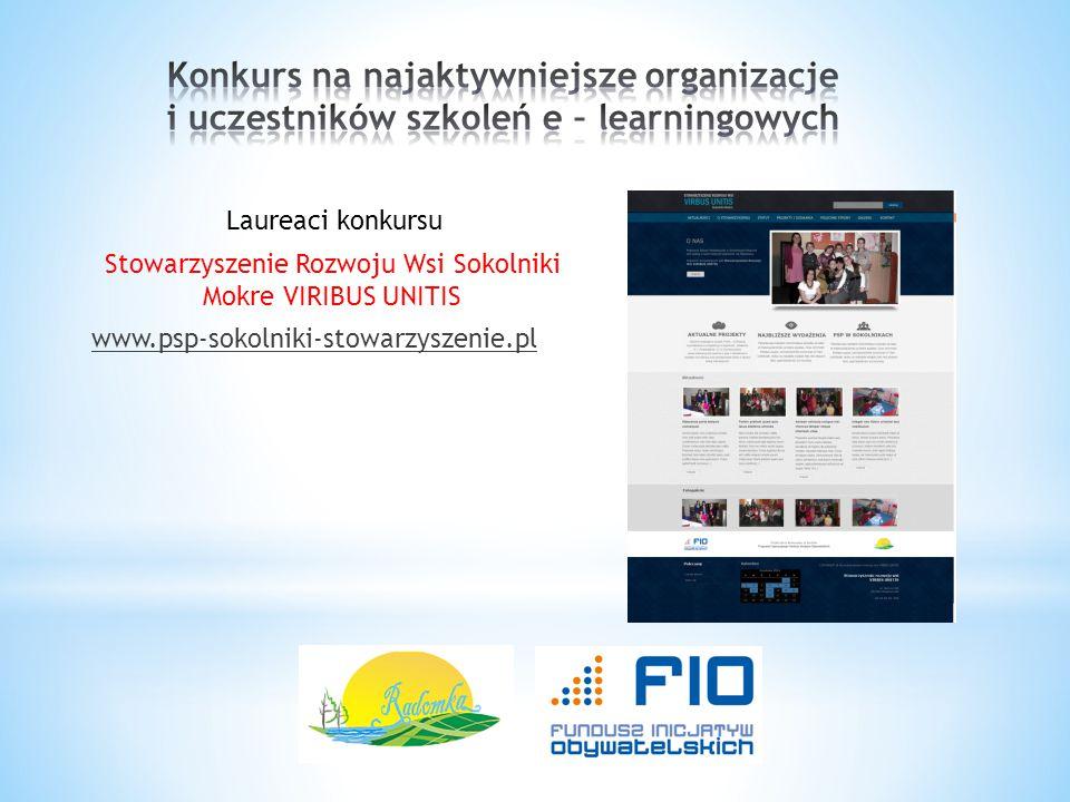 Laureaci konkursu Stowarzyszenie Rozwoju Wsi Sokolniki Mokre VIRIBUS UNITIS www.psp-sokolniki-stowarzyszenie.pl