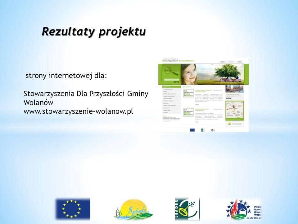 Rezultaty projektu strony internetowej dla: Stowarzyszenia Dla Przyszłości Gminy Wolanów www.stowarzyszenie-wolanow.pl