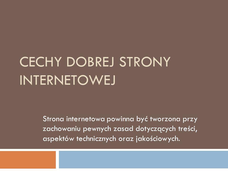 eGospodarka - artykuły  Źle działające firmowe strony www odstraszają  82% użytkowników sieci w Polsce regularnie doświadcza niedogodności związanych z wadliwym działaniem stron internetowych.