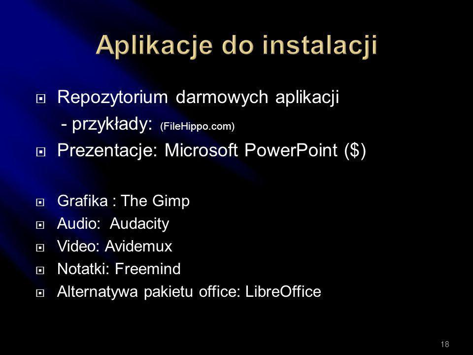 Oprogramowanie do tworzenia multimediów dzieli się na dwa podstawowe rodzaje:  Client-based (instalowane w komputerze)  Web-based (na stronach inter