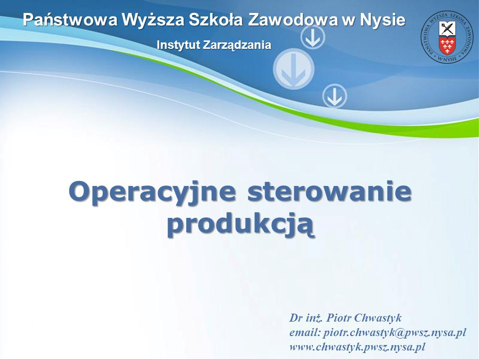 Powerpoint Templates Slajd 2 Co to jest operacyjne sterowanie produkcją.