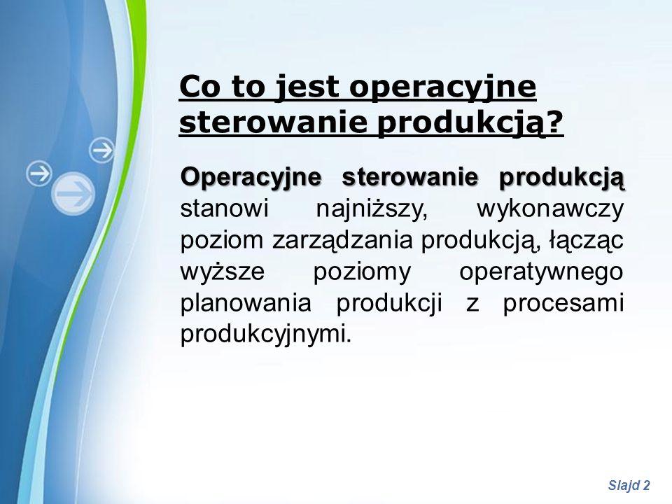 Powerpoint Templates Slajd 3 Co to jest operacyjne sterowanie produkcją.