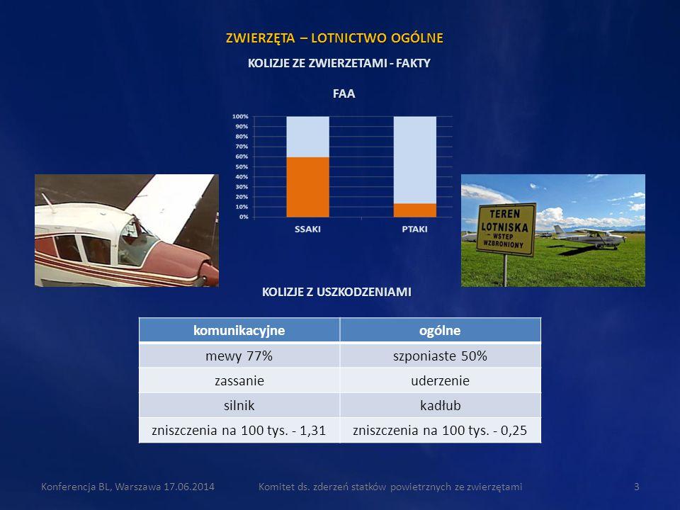 komunikacyjneogólne mewy 77%szponiaste 50% zassanieuderzenie silnikkadłub zniszczenia na 100 tys. - 1,31zniszczenia na 100 tys. - 0,25 Komitet ds. zde
