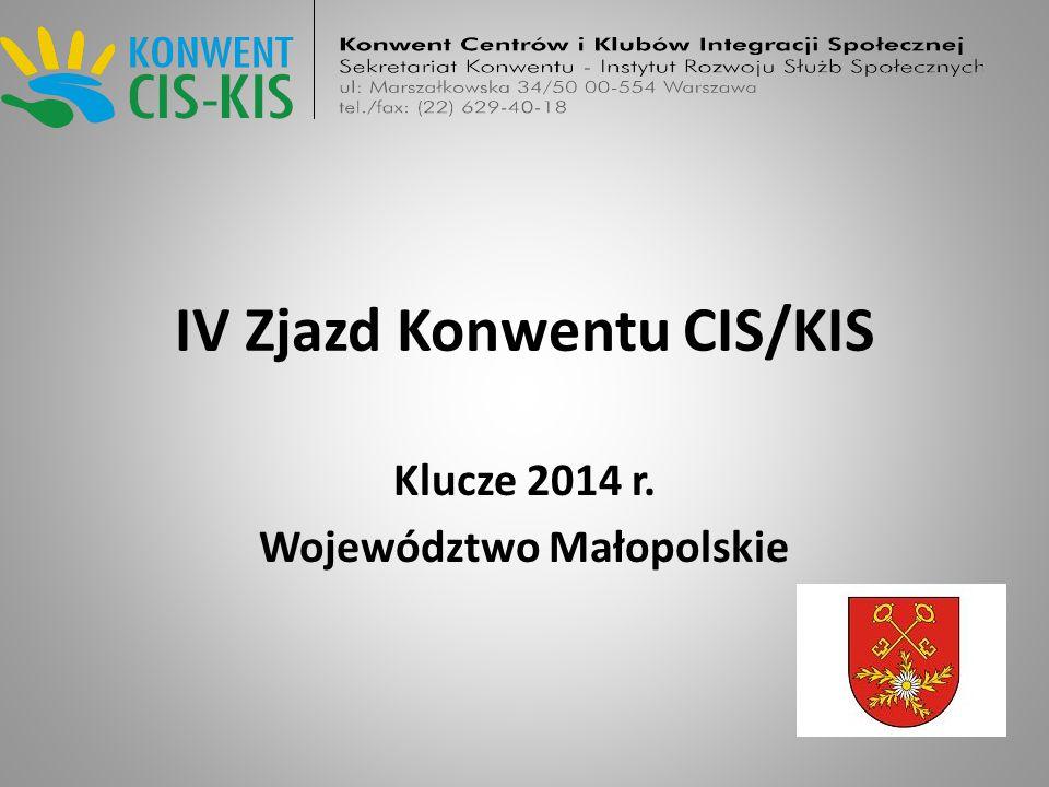 IV Zjazd Konwentu CIS/KIS Klucze 2014 r. Województwo Małopolskie