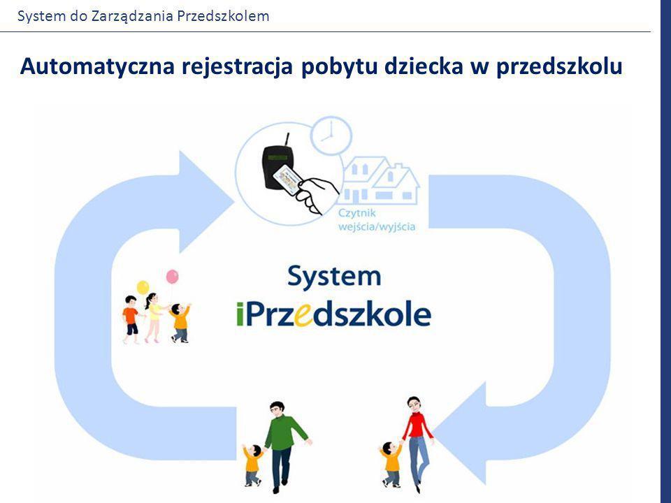Automatyczna rejestracja pobytu dziecka w przedszkolu System do Zarządzania Przedszkolem