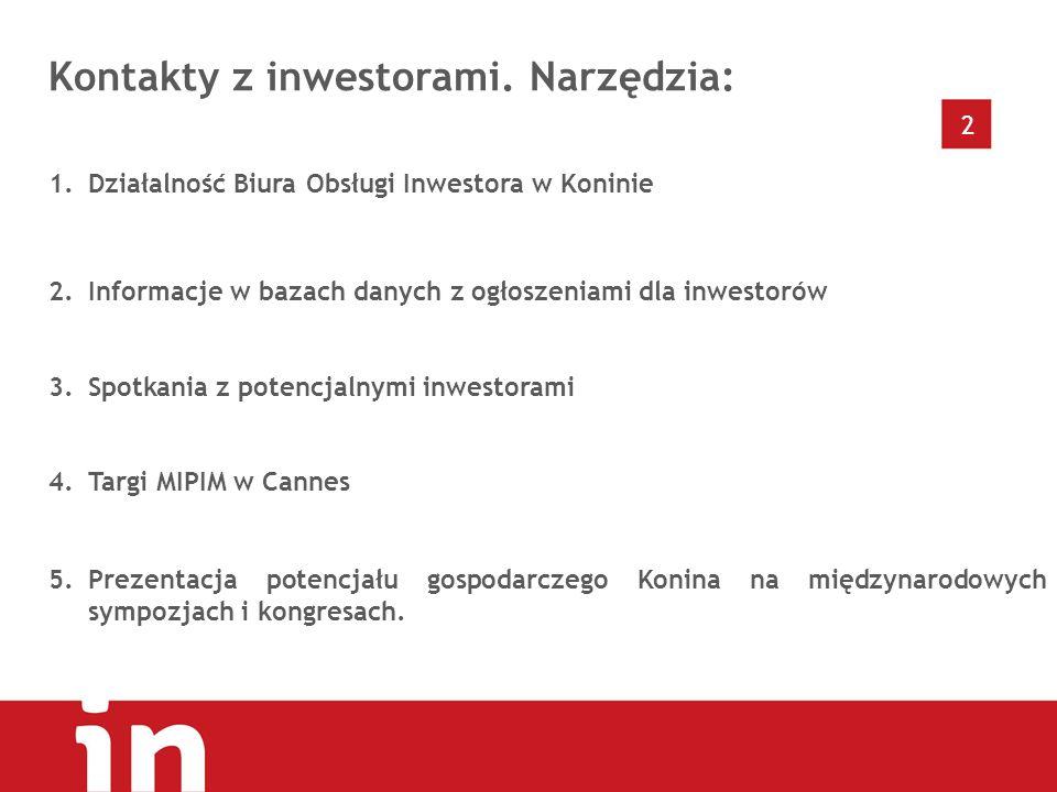 2 Kontakty z inwestorami.