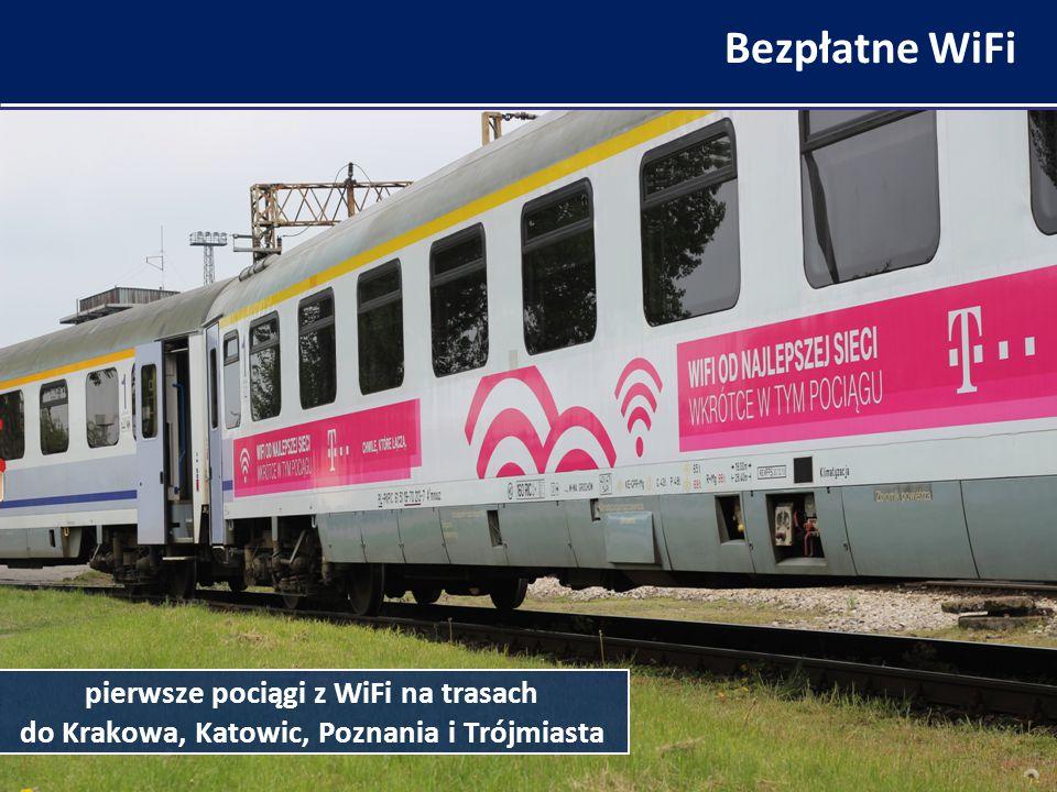 Bezpłatne WiFi pierwsze pociągi z WiFi na trasach do Krakowa, Katowic, Poznania i Trójmiasta