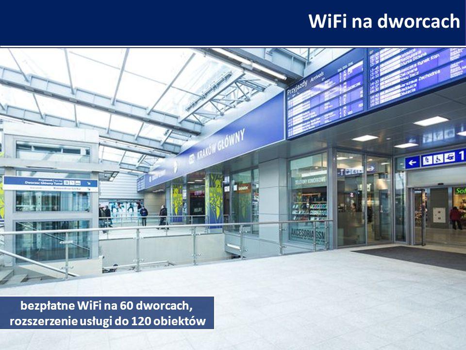 WiFi na dworcach bezpłatne WiFi na 60 dworcach, rozszerzenie usługi do 120 obiektów