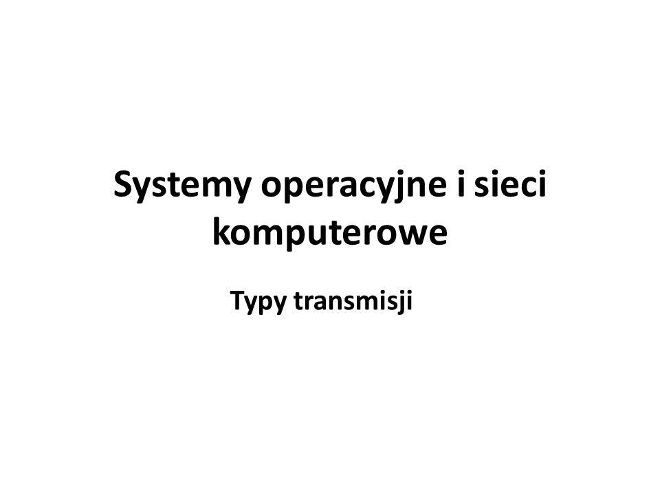 Systemy operacyjne i sieci komputerowe Typy transmisji