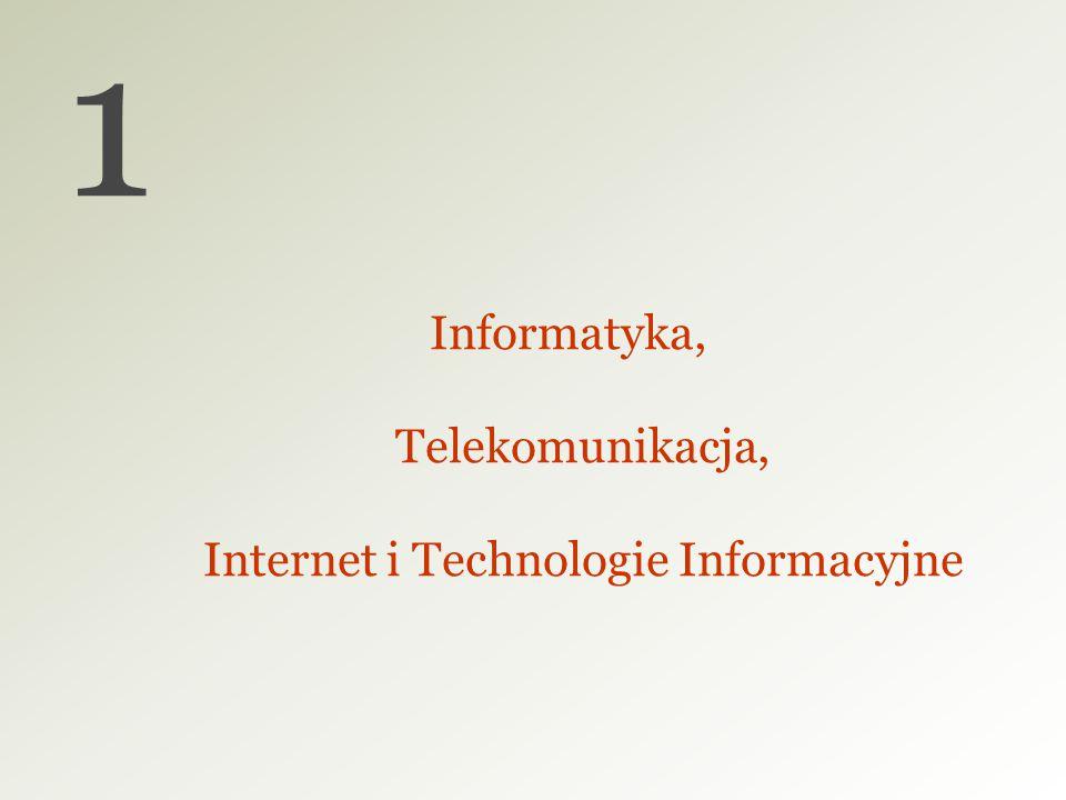 Informatyka, Telekomunikacja, Internet i Technologie Informacyjne 1