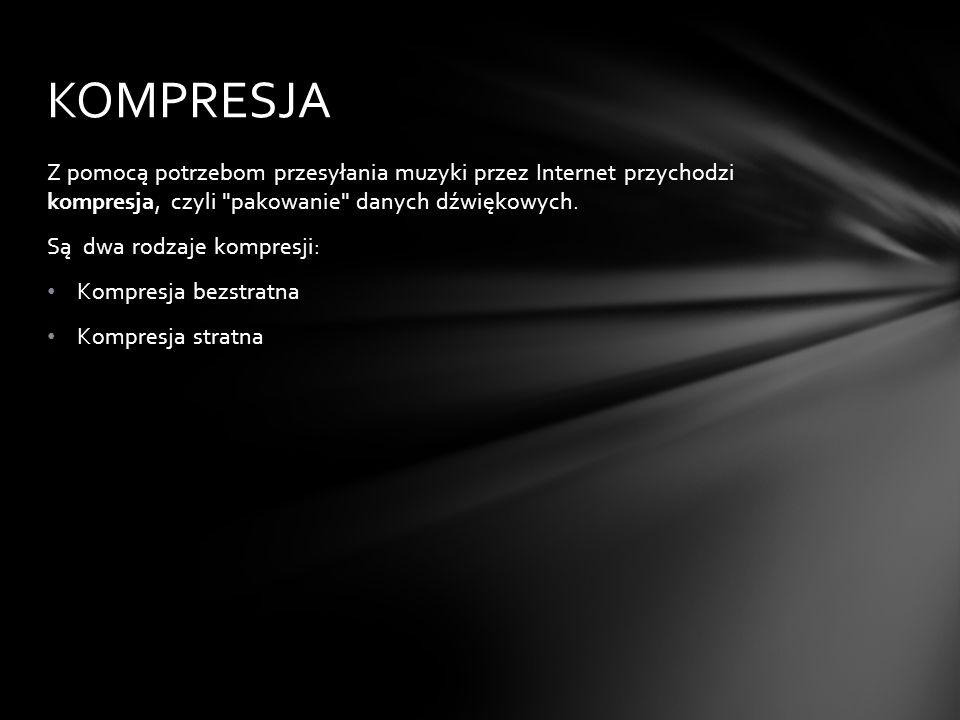 Kompresja bezstratna zachowuje pełną informację o przebiegu sygnału dźwiękowego.