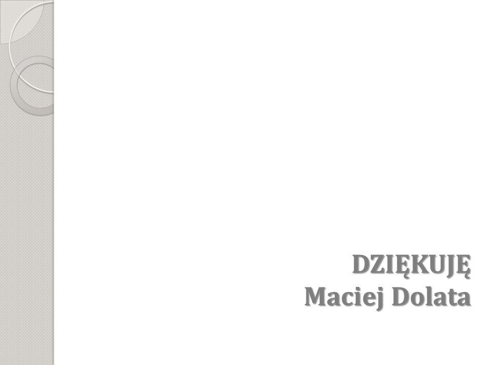 DZIĘKUJĘ Maciej Dolata