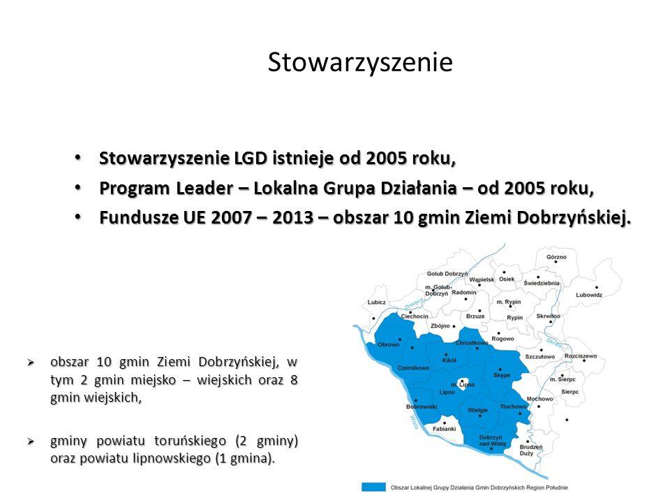 Stowarzyszenie Stowarzyszenie LGD istnieje od 2005 roku, Stowarzyszenie LGD istnieje od 2005 roku, Program Leader – Lokalna Grupa Działania – od 2005 roku, Program Leader – Lokalna Grupa Działania – od 2005 roku, Fundusze UE 2007 – 2013 – obszar 10 gmin Ziemi Dobrzyńskiej.