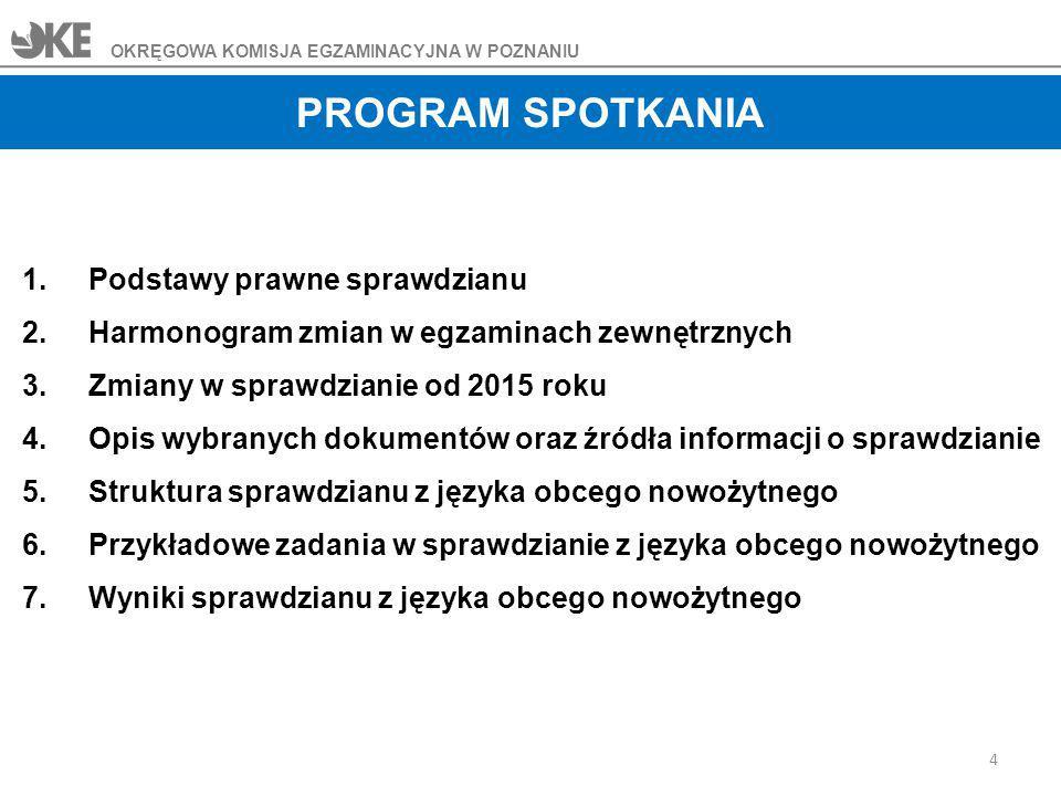 25 OKRĘGOWA KOMISJA EGZAMINACYJNA W POZNANIU Źródła informacji o sprawdzianie Przykładowy zestaw zadań egzaminacyjnych wraz z plikami dźwiękowymi został opublikowany 13.12.2013 r.