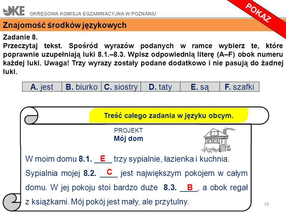 Zadanie 8.Przeczytaj tekst.