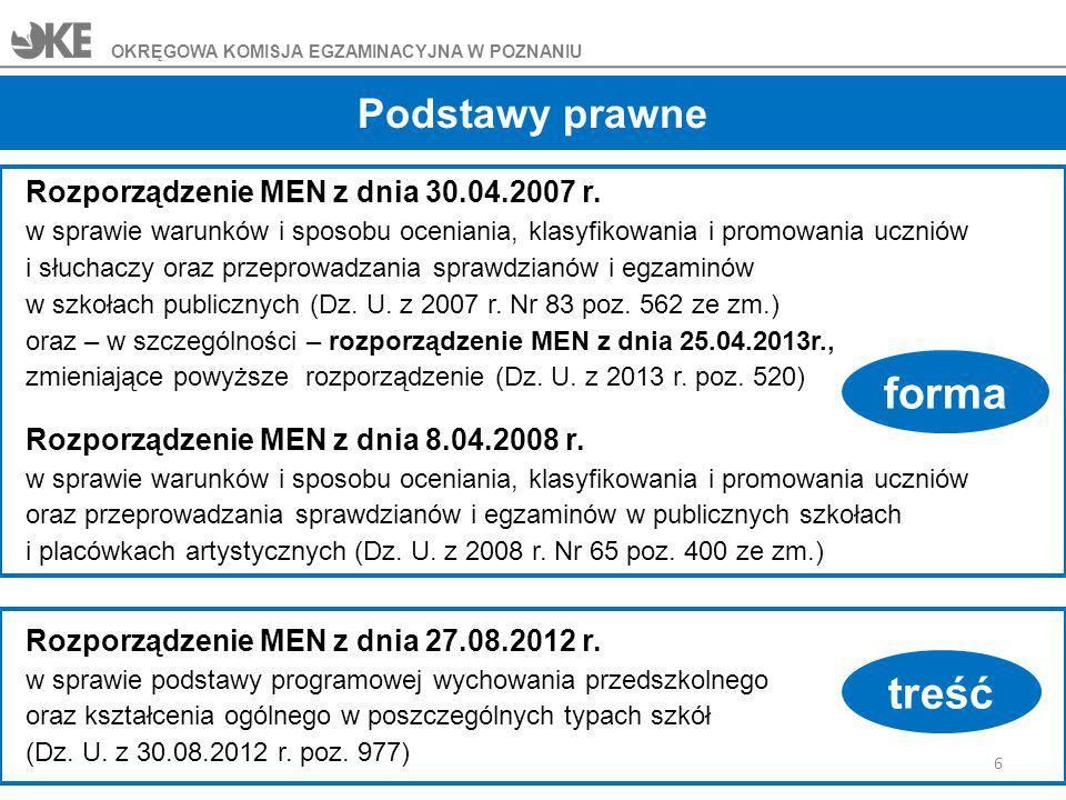 Wymagania szczegółowe wyznaczają możliwe rodzaje tekstów wykorzystywanych w procesie kształcenia językowego.