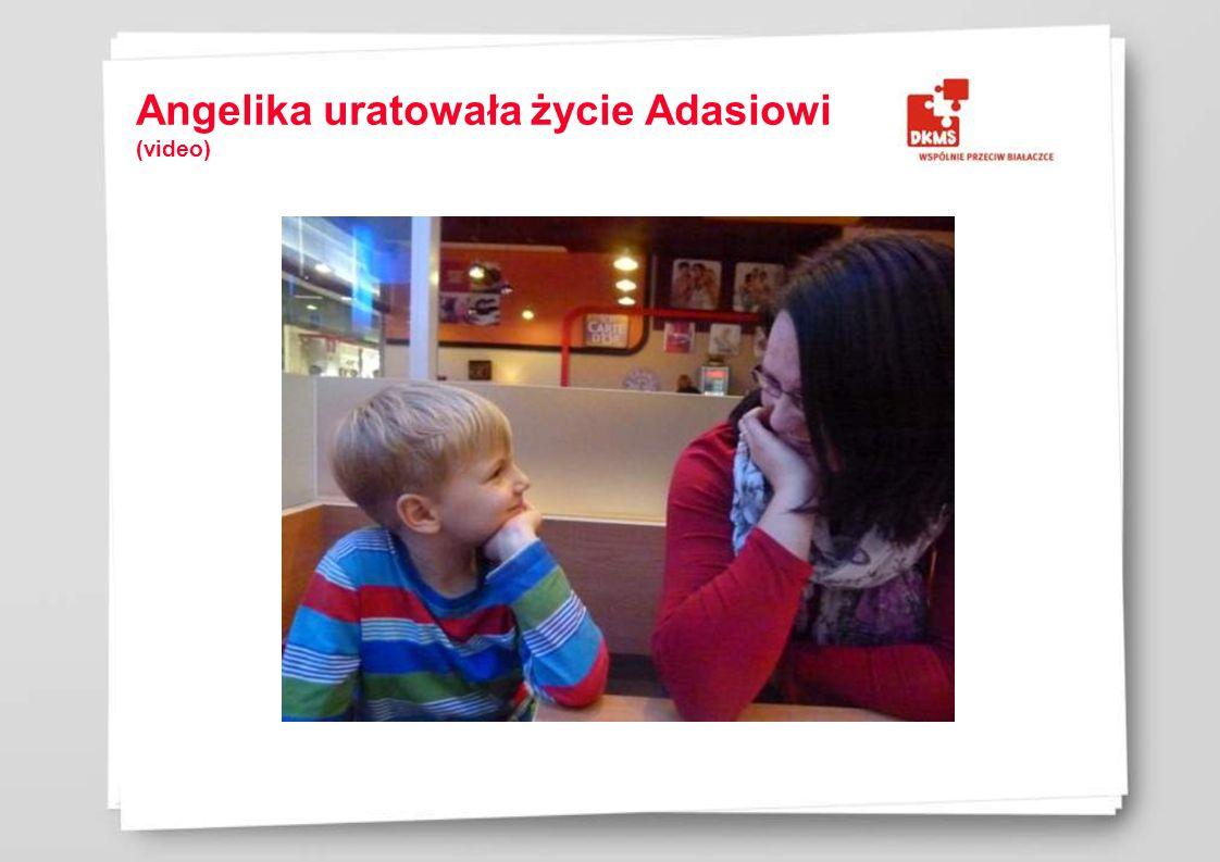 Angelika uratowała życie Adasiowi (video)