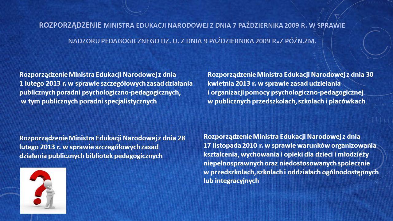 Rozporządzenie Ministra Edukacji Narodowej z dnia 28 lutego 2013 r.