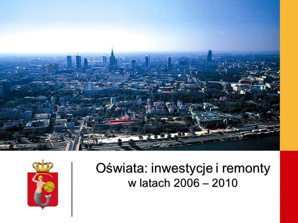 Oświata: inwestycje i remonty w latach 2006 – 2010