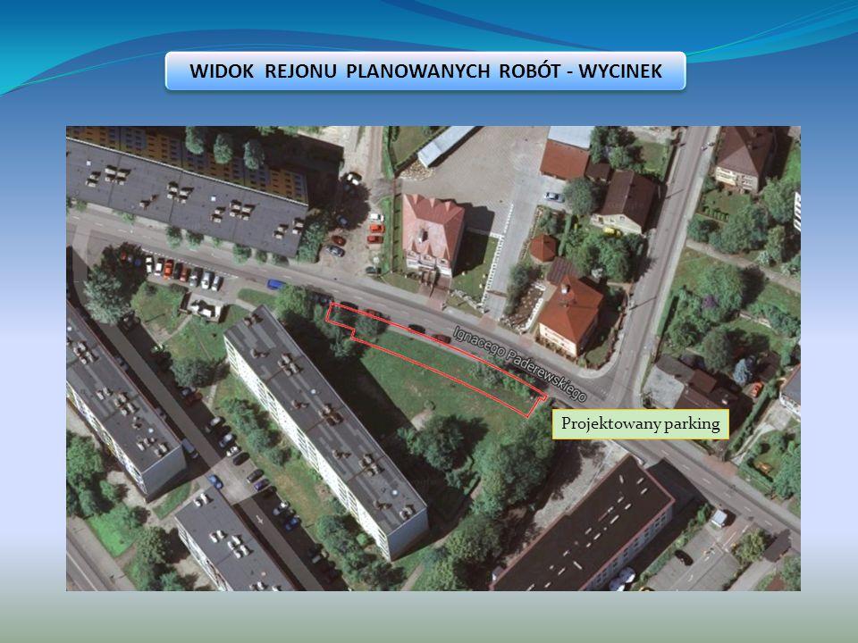 Opis stanu istniejącego W przedmiotowej lokalizacji przebiega ulica o szerokości jezdni wynoszącej 6,00 m oraz szerokości chodnika 2,00 m.