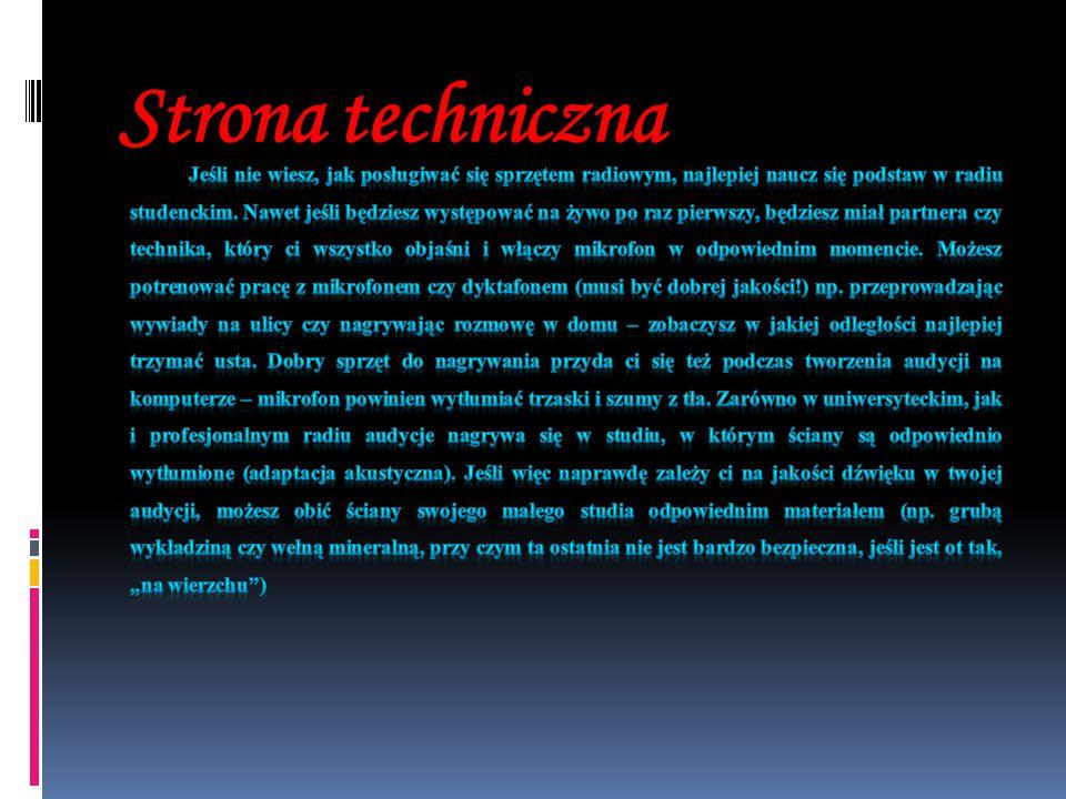 Strona techniczna