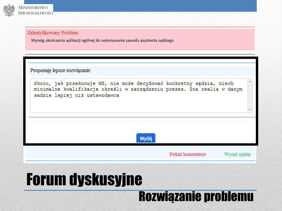 Forum dyskusyjne Rozwiązanie problemu
