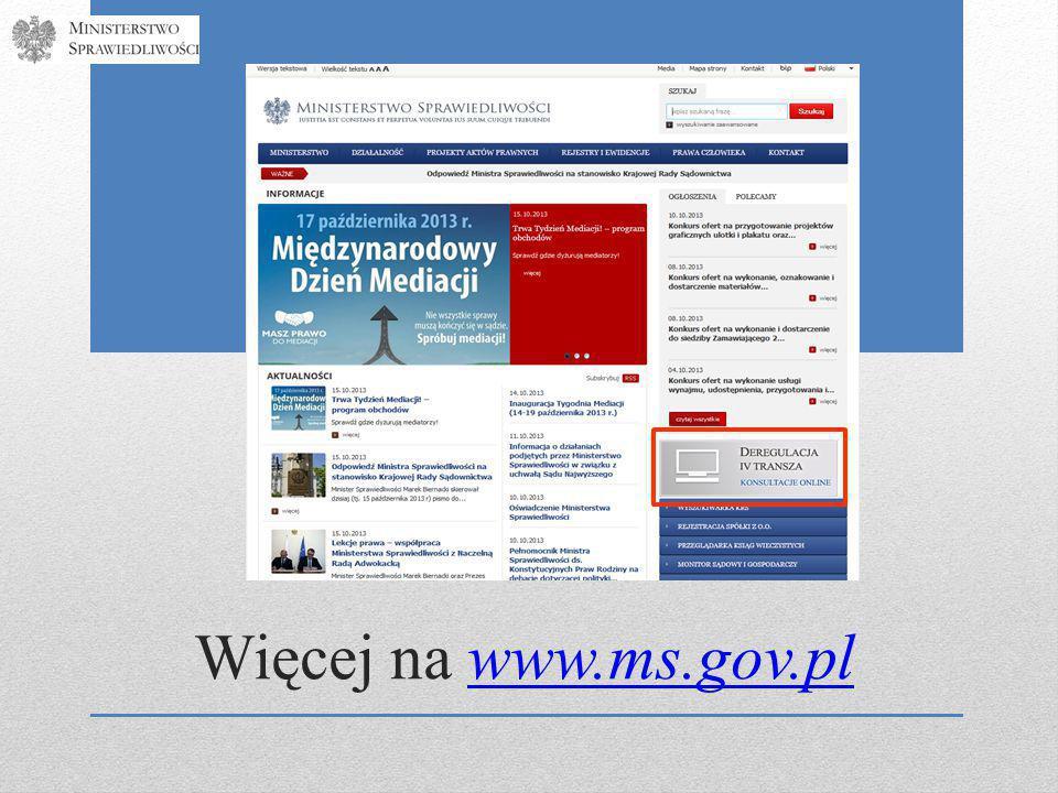 Więcej na www.ms.gov.plwww.ms.gov.pl
