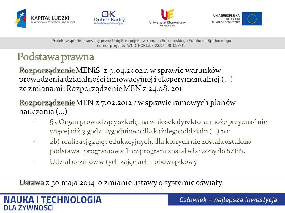 Rozporządzenie Rozporządzenie MENiS z 9.04.2002 r.
