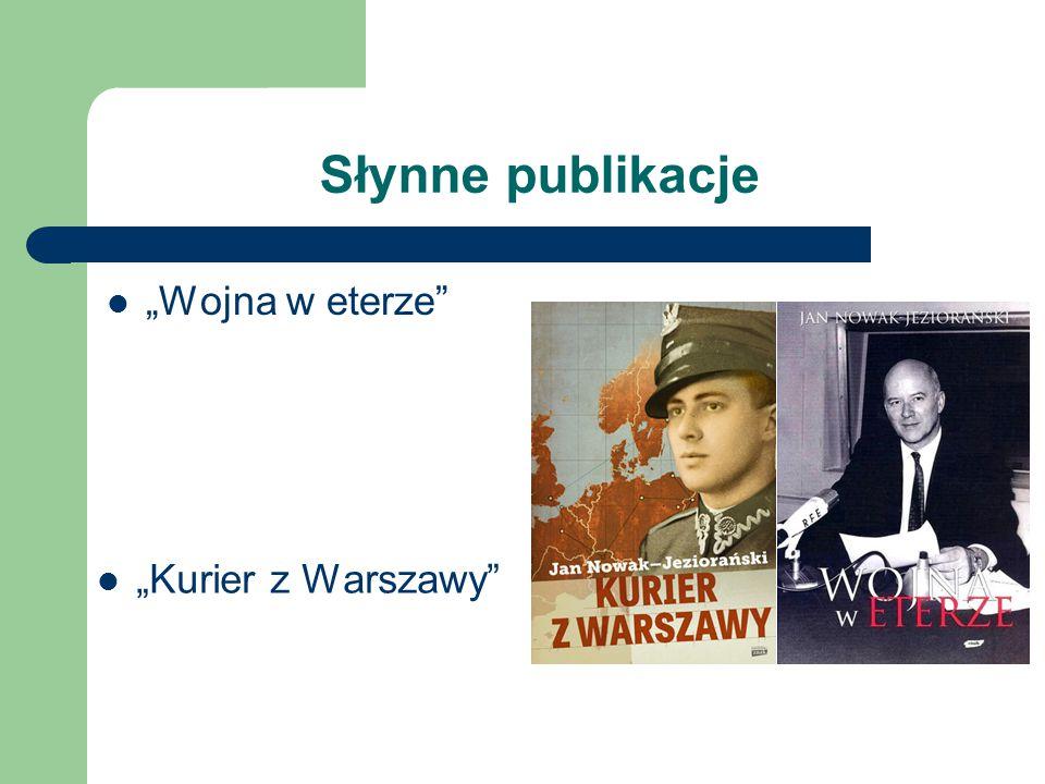 """Słynne publikacje """"Wojna w eterze"""" """"Kurier z Warszawy"""""""