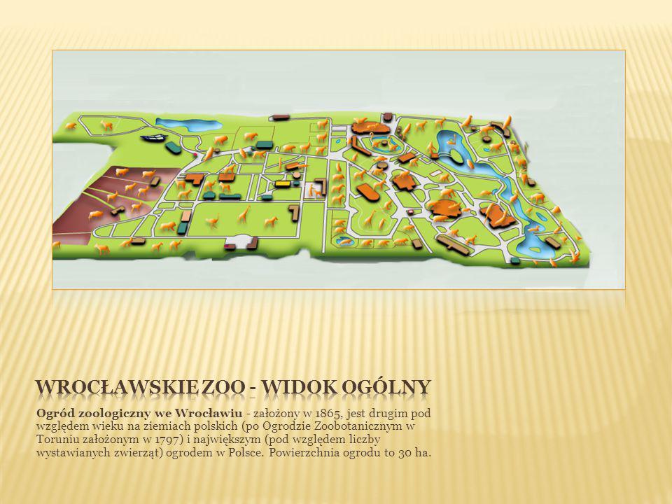 Ogród zoologiczny we Wrocławiu - założony w 1865, jest drugim pod względem wieku na ziemiach polskich (po Ogrodzie Zoobotanicznym w Toruniu założonym w 1797) i największym (pod względem liczby wystawianych zwierząt) ogrodem w Polsce.