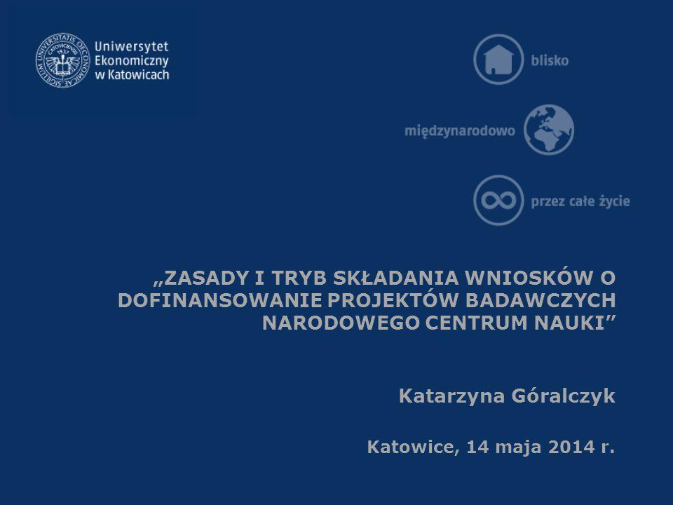 Konkursy ogłoszone przez Narodowe Centrum Nauki w terminie od 15 marca do 1 7 czerwca 2014 r.