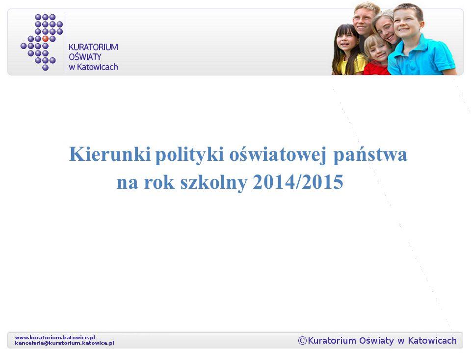 Kierunki polityki oświatowej państwa na rok szkolny 2014/2015