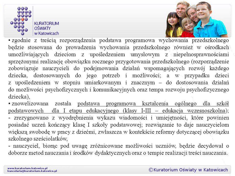 zgodnie z treścią rozporządzenia podstawa programowa wychowania przedszkolnego będzie stosowana do prowadzenia wychowania przedszkolnego również w ośr