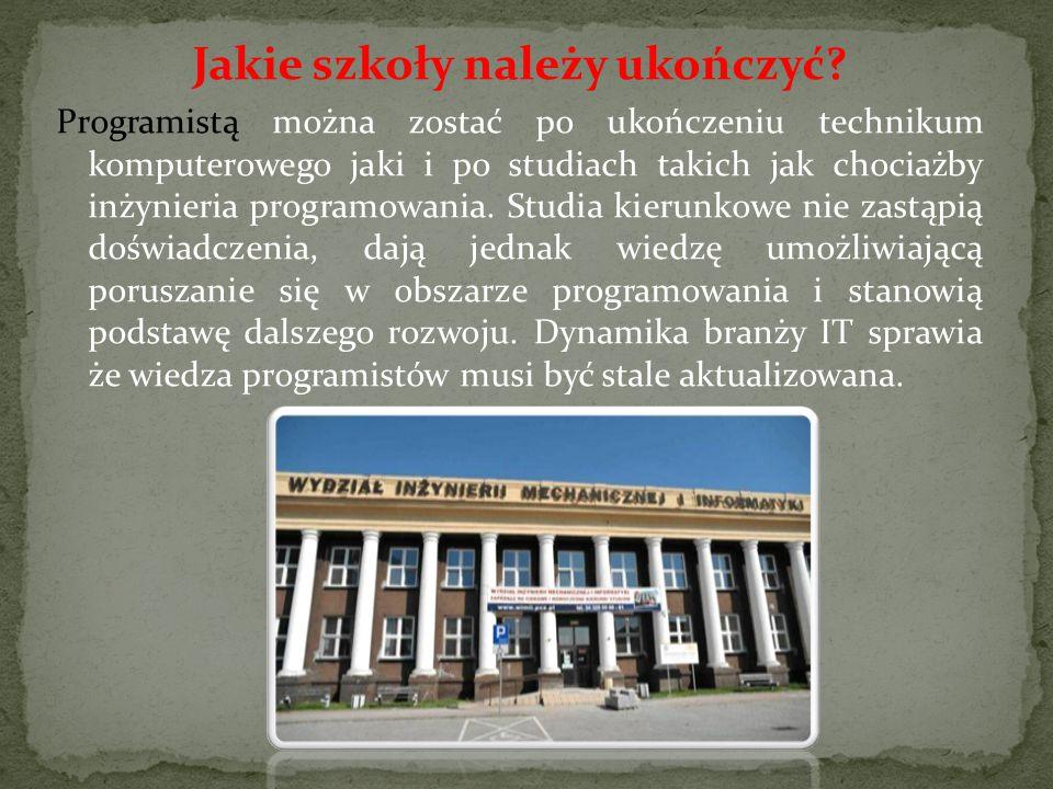 Jakie szkoły należy ukończyć.