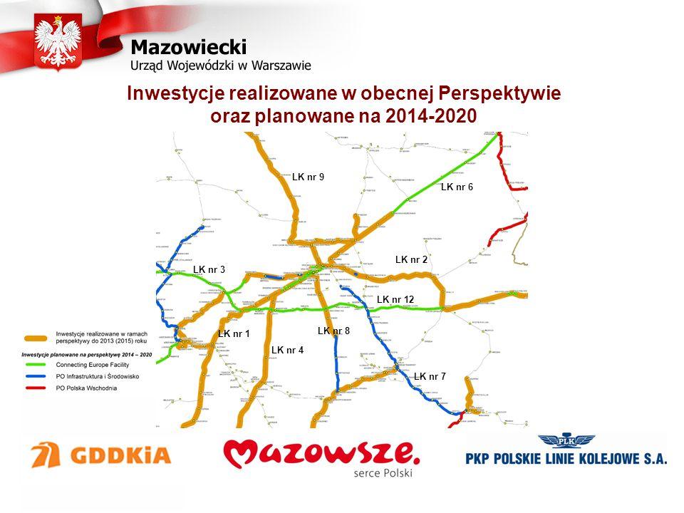 Inwestycje realizowane w obecnej Perspektywie oraz planowane na 2014-2020 LK nr 6 LK nr 9 LK nr 2 LK nr 4 LK nr 3 LK nr 7 LK nr 12 LK nr 1 LK nr 8