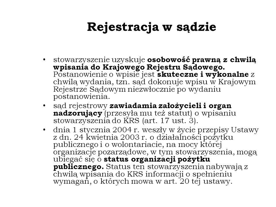 Rejestracja organizacji a działalność gospodarcza jeśli zgłaszamy wpis działalności gospodarczej do rejestru przedsiębiorców razem z wnioskiem o rejestrację organizacji to używamy wówczas formularza KRS-WM.