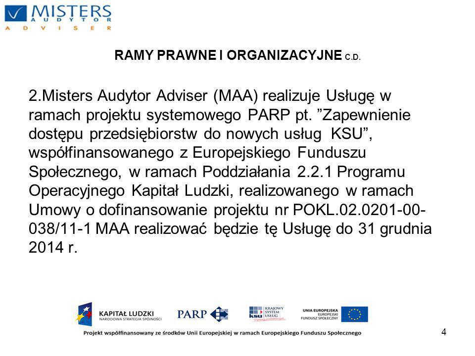 4 RAMY PRAWNE I ORGANIZACYJNE C.D.